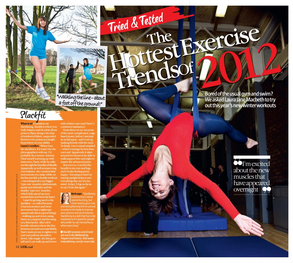 Look Magazine - Hottest Exercise Trends of 2012.