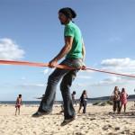 Beach Slackline Session