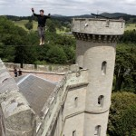 red or black maverick castle slackline stunt 09
