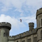 red or black maverick castle slackline stunt 12
